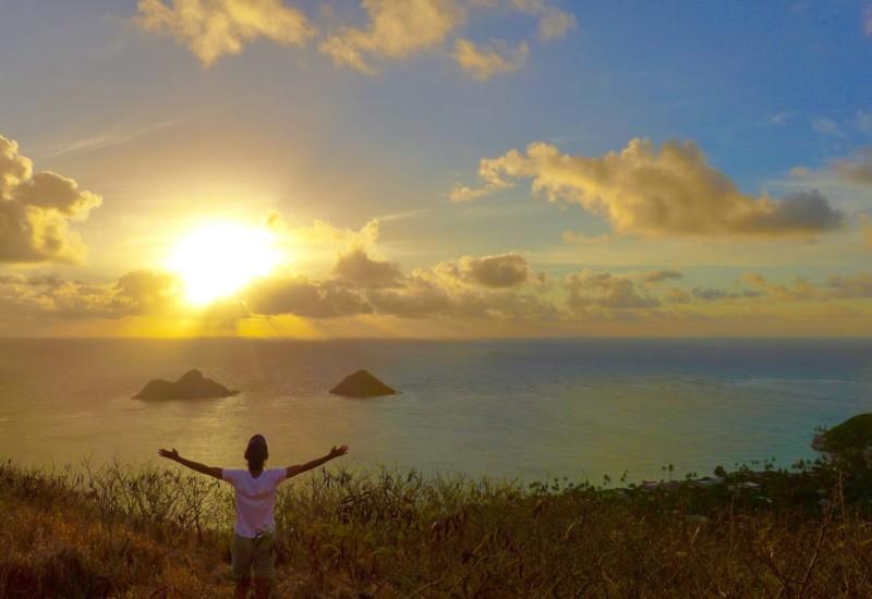 【ハワイ・王道】ラニカイピルボックスから眺める黄金のサンライズ☺︎