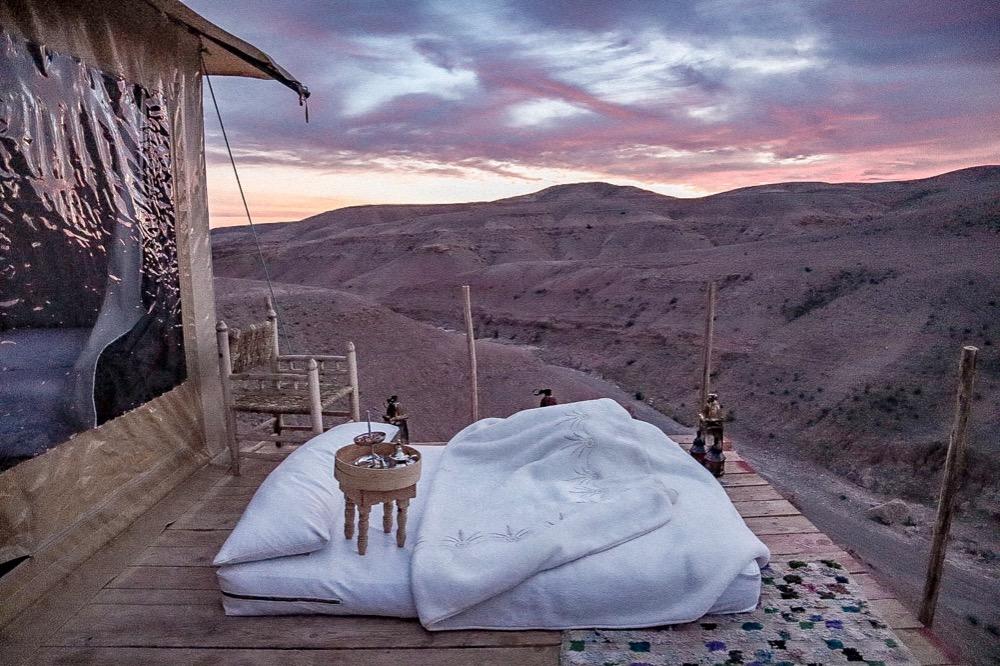 マラケシュの砂漠に泊まるアガファイデザートラグジュアリーキャンプ