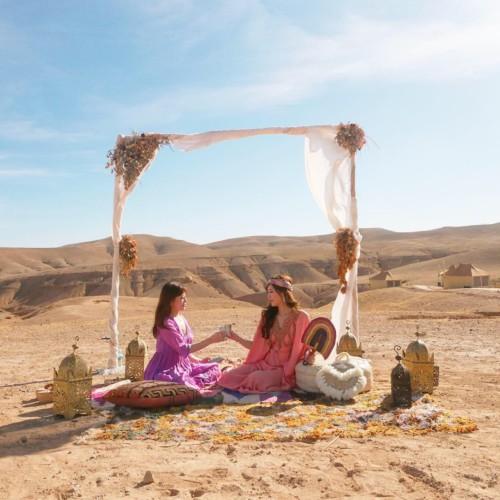 マラケシュから1時間で行ける砂漠でラグジュアリーなキャンプ